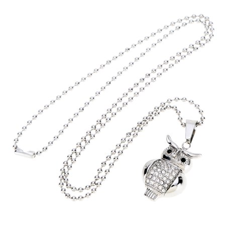 Shinning Fashion Rhinestone Owl Pendant Collar Chain Necklace Jewelry