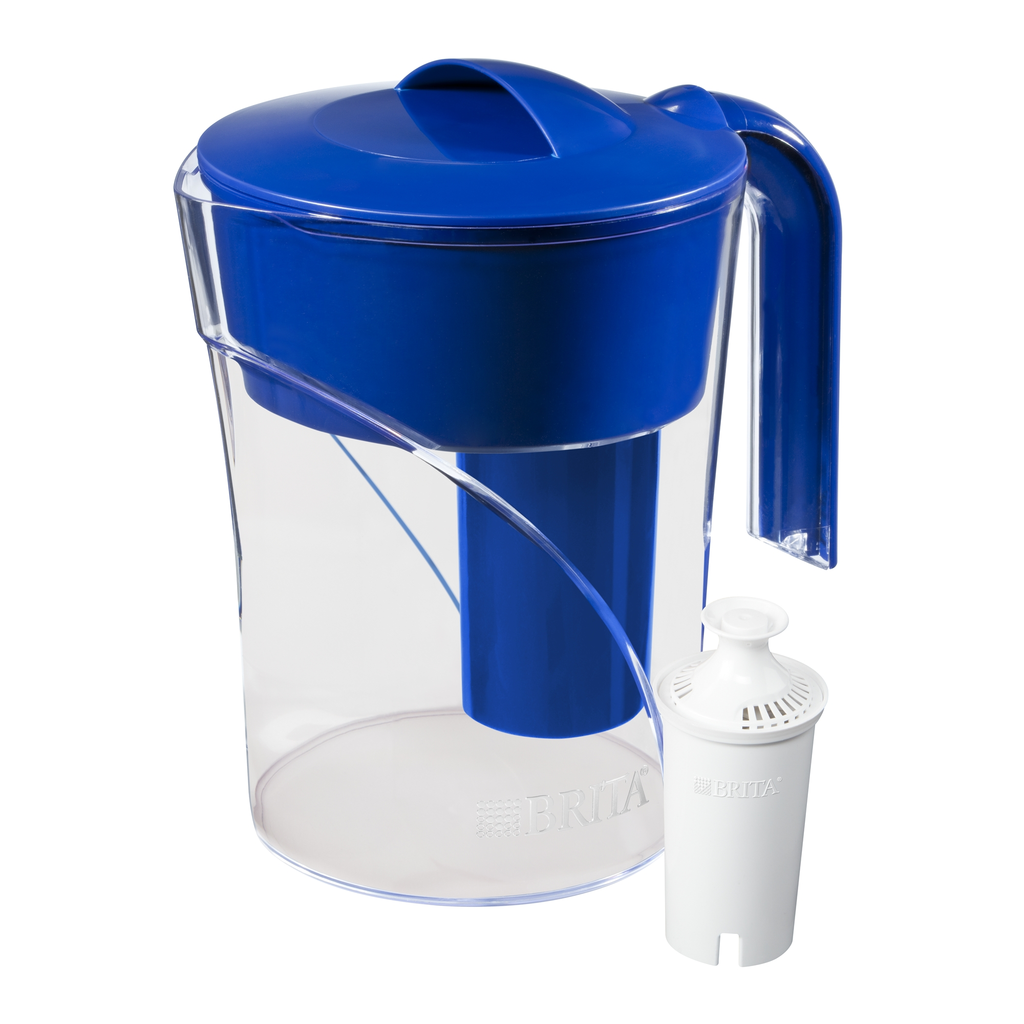 Brita Small Mist Water Pitcher with Filter - BPA Free - Blue - 6 Cup