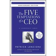 J-B Lencioni: The Five Temptations of a Ceo, 10th Anniversary Edition (Hardcover)