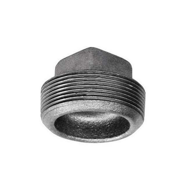 B /& K  2 in MPT  Black  Malleable Iron  Cap Dia