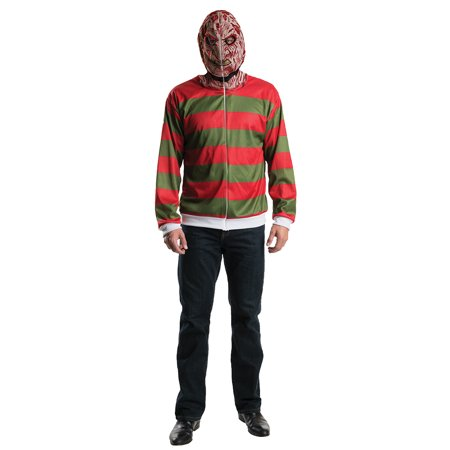 Adult Freddy Krueger Hoodie Costume by Rubies - Freddy Krueger Accessories