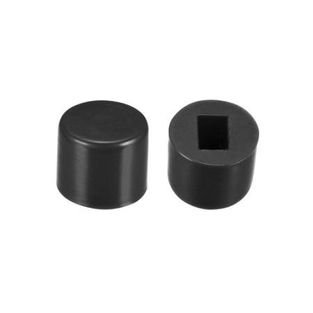 40Pcs Plastic 6x5mm Latching Pushbutton Tactile Switch Caps Cover Keycaps Protector Black - image 3 de 3