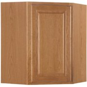 Interline 2478239 30 x 12 in. Hampton Corner Wall Cabinet, Oak