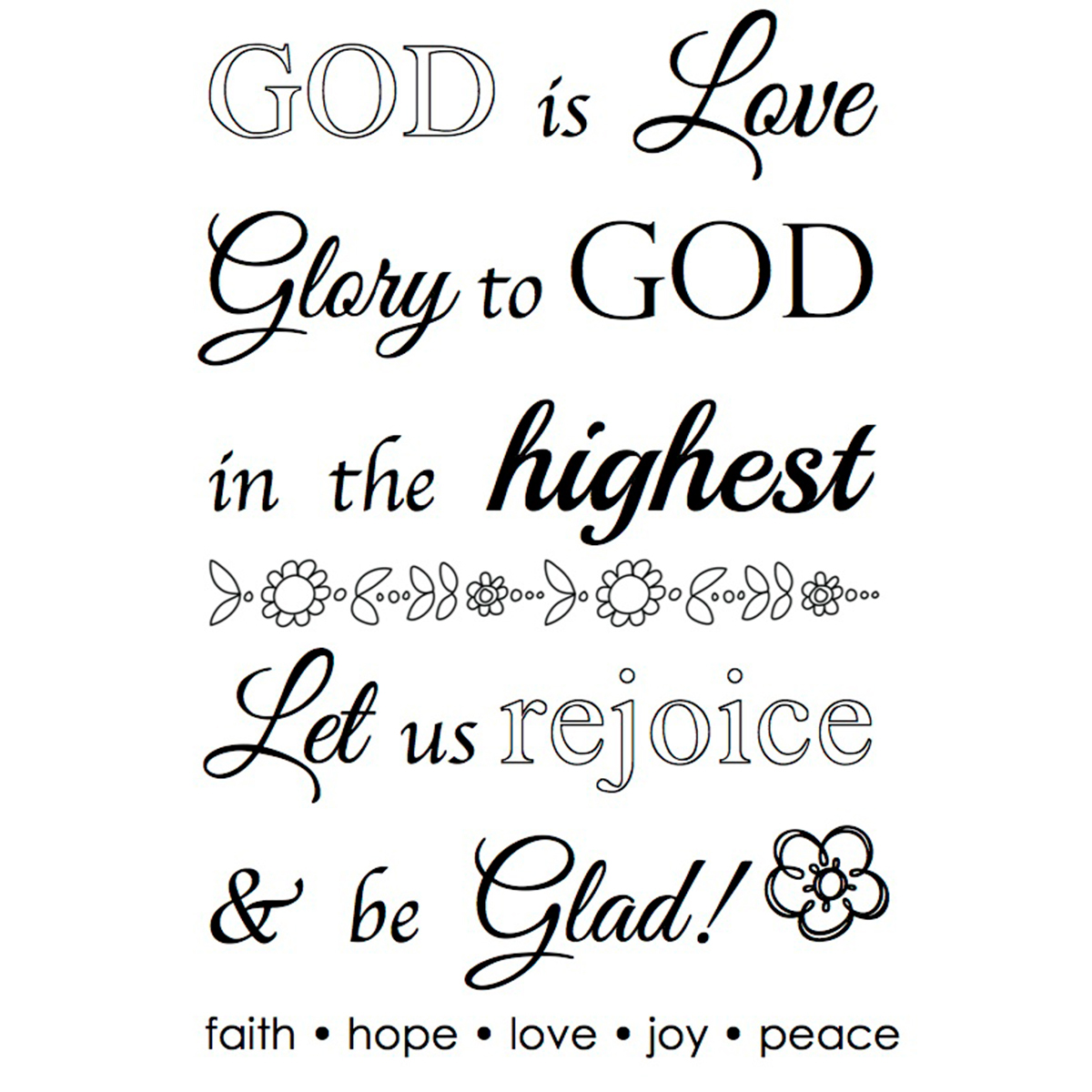 "SRM Bible Journaling Clear Stamps 4""X6""-God Is Love"
