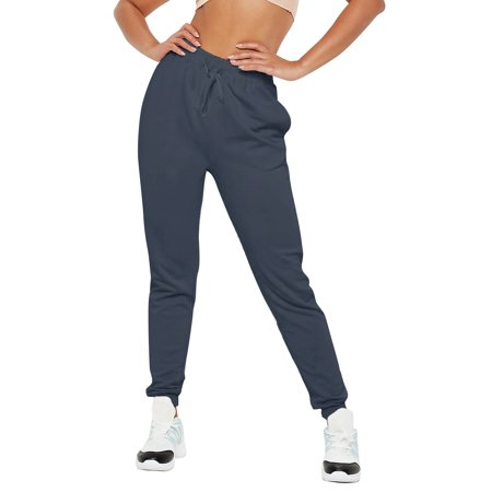 Womens Jogger Pants French Terry Lightweight Cotton Blend Casual Sweatpants with Pockets