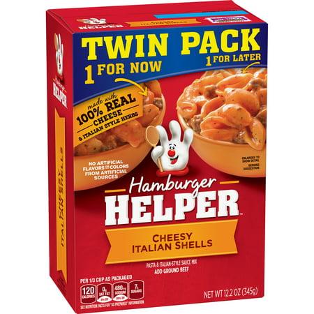 Betty Crocker Hamburger Helper Pasta And Italian Style Sauce Mix Cheesy Italian Shells  12 2 Oz