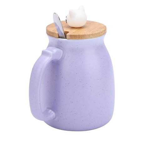Ejoyous 1Pc Lovely Cat Ceramic Cup with Spoon and Lid  Coffee Water Milk Mug for Drinkware Gift,Cup, Milk Mug - image 2 of 8