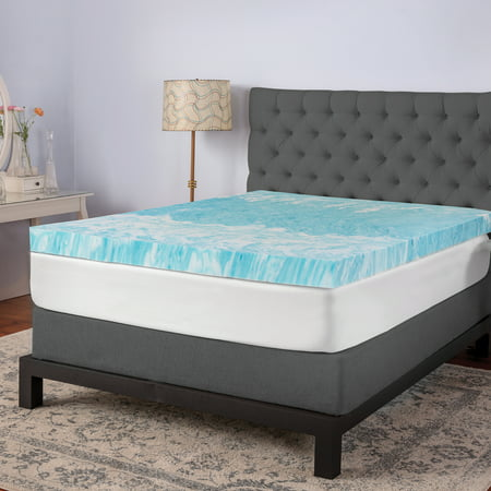 "BioPEDIC 4"" Gel Swirl Memory Foam Twin Mattress Topper"