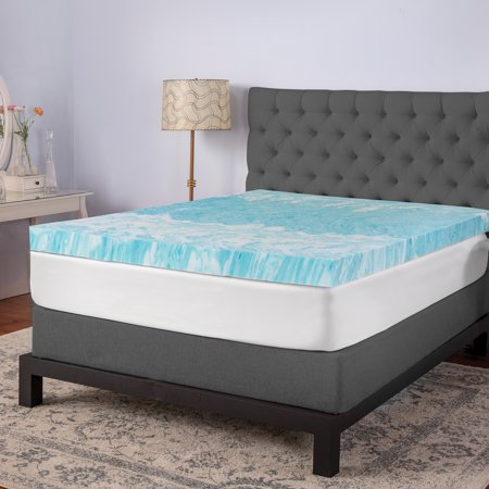 Sensorpedic 4 Quot Gel Swirl Memory Foam Queen Mattress Topper