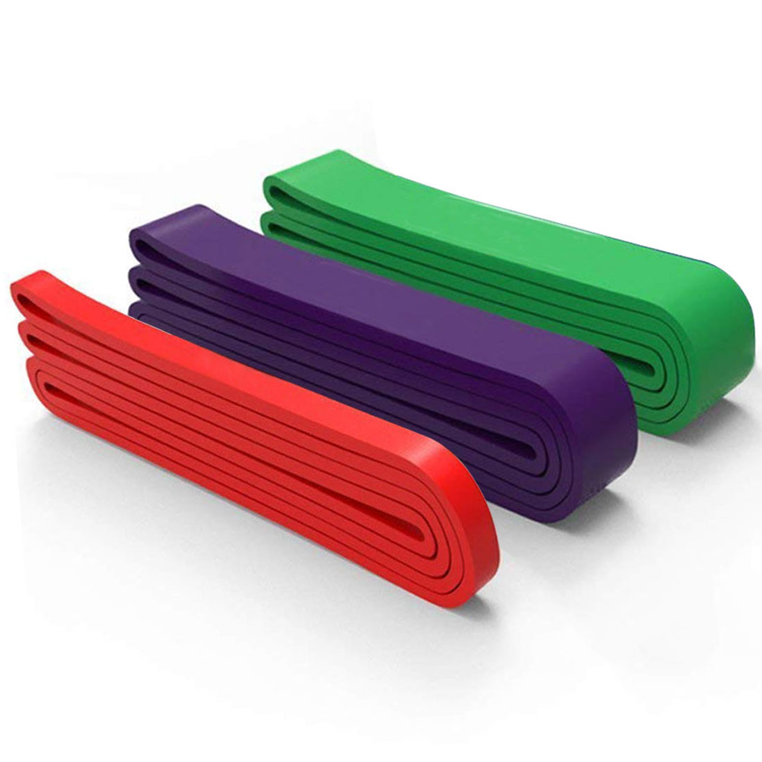 For Health Resistance Loop Bands Exercise Bands Workout Bands,Set of 3 for Fitness Training, Physical Therapy Rehab, Yoga and Pilates Workout