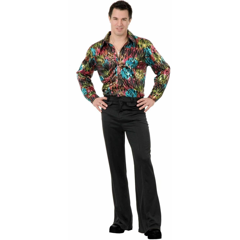 Black Disco Pants Men's Adult Halloween Costume
