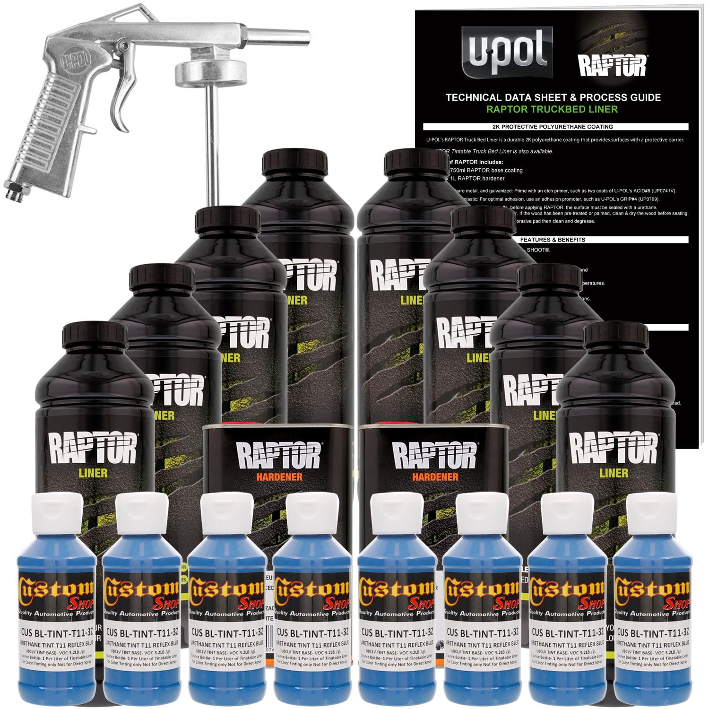 Raptor Reflex Blue Urethane Spray-On Truck Bed Liner Spray Gun,8 Liters