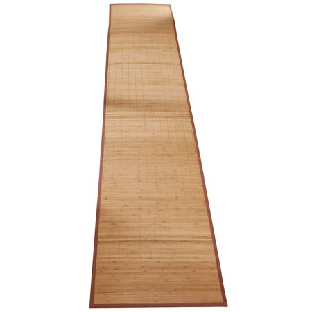 """Miles Kimball Bamboo Non-Slip Runner with Nylon Trim, 23"""" x 118"""" – Narrow Rubber Backed Bamboo Runner with Water Resistant Capabilities for Kitchen, Sunroom, Hallway & Entranceway ()"""
