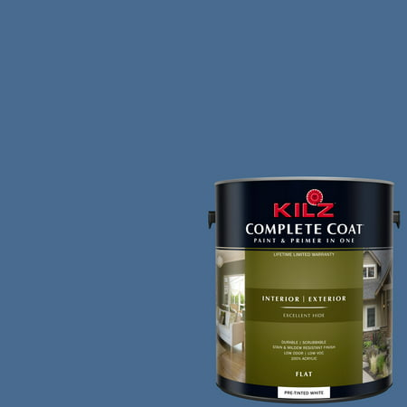 KILZ COMPLETE COAT Interior/Exterior Paint & Primer in One #RC150-02 Blue Depths