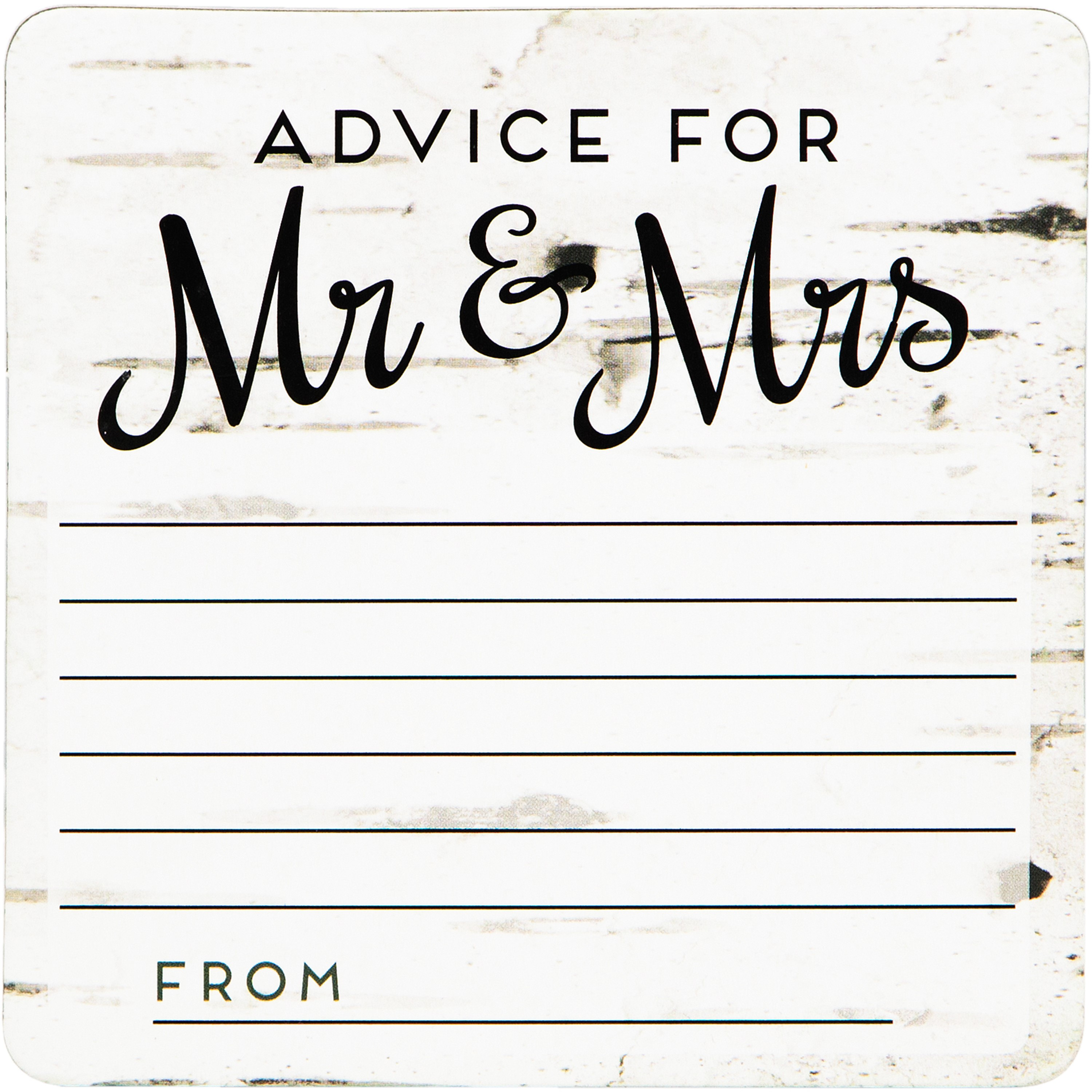 """4"""" x 4"""" Mr. & Mrs. Advice Coasters, 20-Count by CREATIVE CONVERTING"""