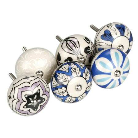 - Pcs Ceramic Knobs Drawer Pulls Cupboard Handles Door Vintage Shabby