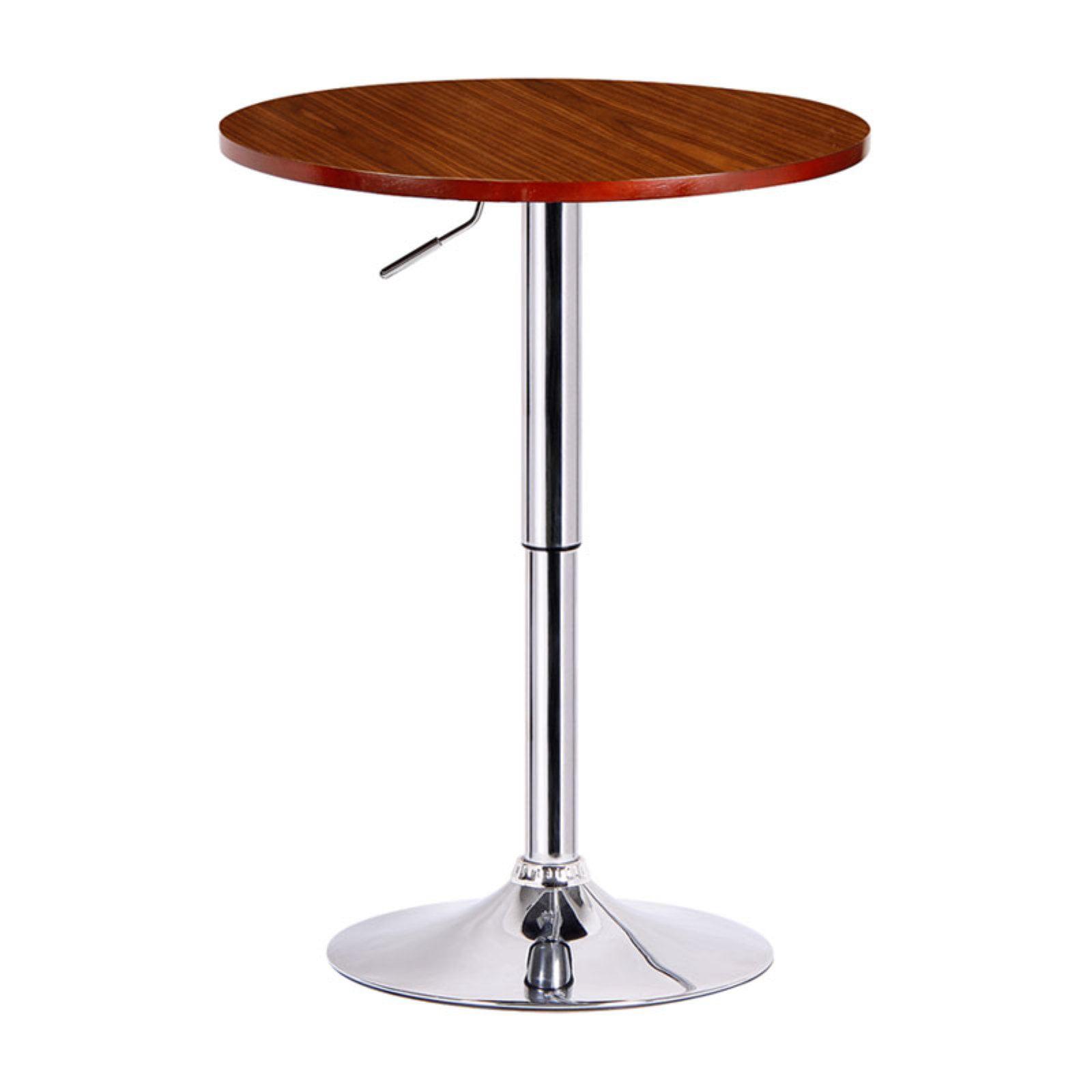 Boraam Runda Adjustable Round TopWood Finish with Metal Stand Pub Table by Boraam