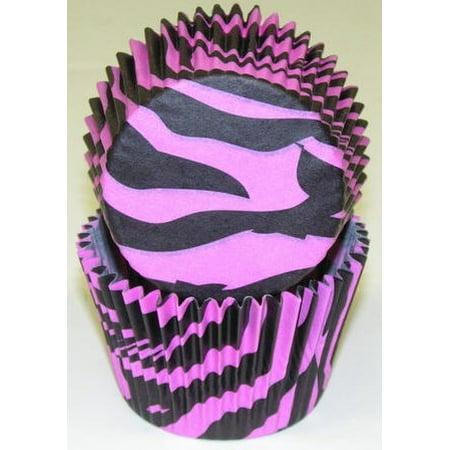 Pink and Black Zebra Cupcake Liners - Baking Cups -50pack](Pink And Black Cupcake Liners)