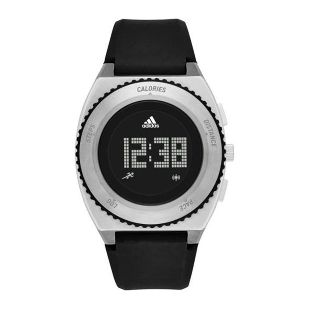 Adidas Men's 42mm Black Rubber Band Steel Case Quartz Digital Watch ADP3253 by Adidas