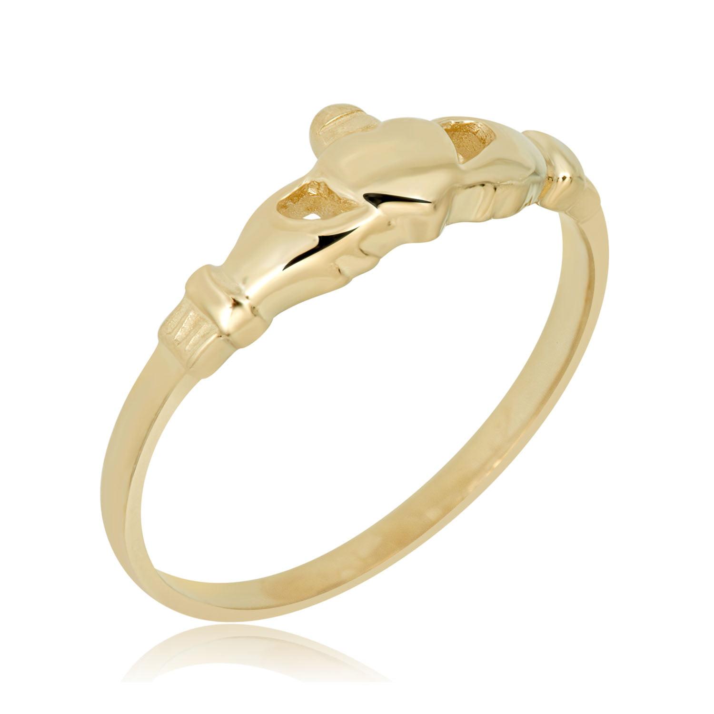 Avora Jewelry 10k Yellow Gold Irish Claddagh Ring Size 3 5 Size 3 5 Walmart Com Walmart Com