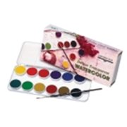 Grumbacher 0. 5Ml.  Tube Non-Toxic Watercolor Paint With Brush Set- White, Set 24