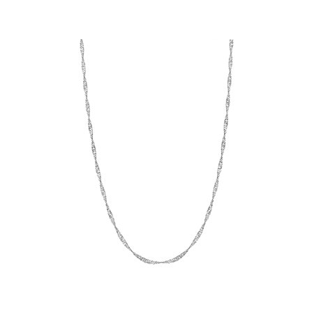 - 925 Sterling Silver 2mm Singapore Rope Twisted Chain