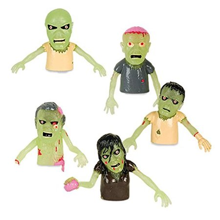 Set of 5 Glow in the Dark Zombie Finger Puppets Halloween Zombies](Marzipan Halloween Fingers)