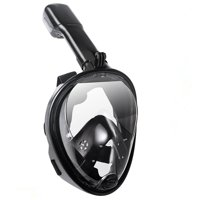 Lightahead 180 Full Face Snorkel Diving Mask Anti-Fog Anti-Leak with Panoramic Full Face Easy Breath Design & Adjustable Head Straps (GoPro Compatible)