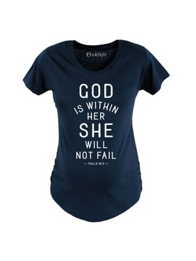 God Is Within Her She Will Not Fail-MATERNITY Scoop Neck Tee