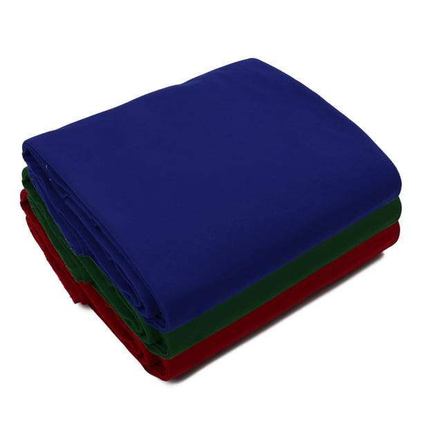 7ft 8ft 9ft Worsted Billiard Pool Table Cloth Billiard Felt with Cushion Rail(Red,Blue,Green)