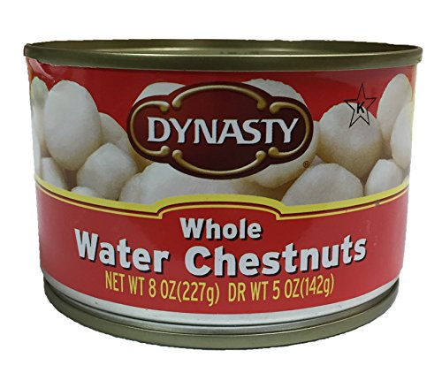 Dynasty Kosher Canned Water Chestnuts 8oz per Can (Whole, 1 Can) by Dynasty