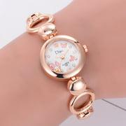 【MIARHB】Butterfly Rose Gold Plated Women's Elegant Rhinestone Bracelet Fashion Watches ( watch for women )