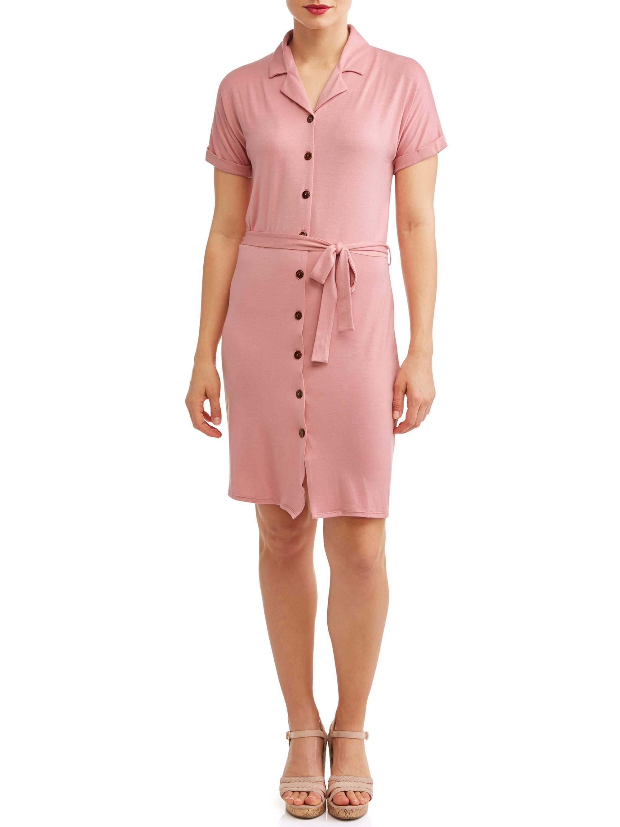 Women's Tortoise Button Shirt Dress