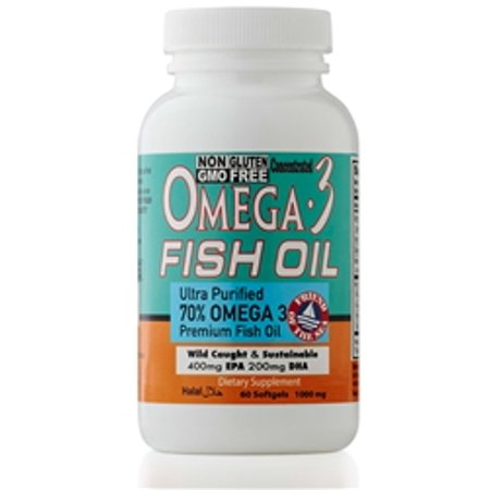 Chi Omega Block - Sweet Sunnah Omega 3 Fish Oil Pills - ULTRA POTENCY FORMULA - 1000 mg EPA 400mg,DHA 200mg Per Serving - 60 Softgels