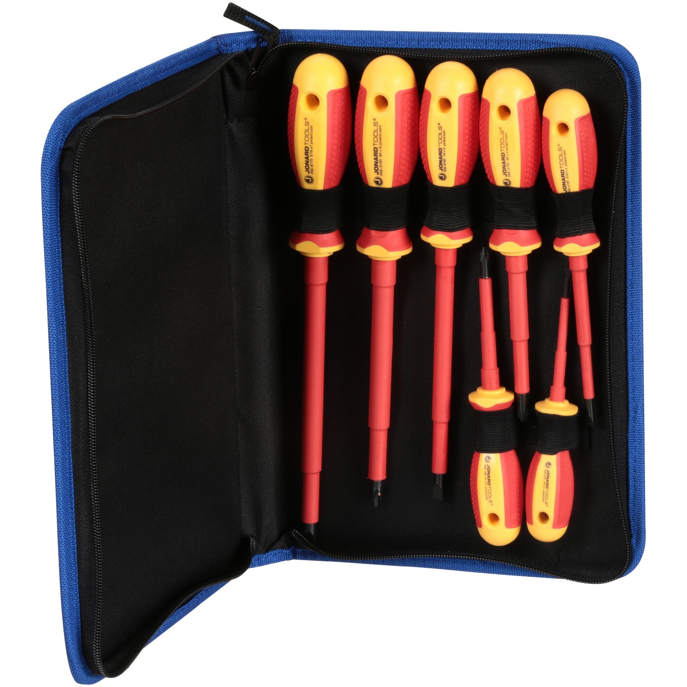Jonard Tools® Insulated Screwdriver Set 7 pc Box