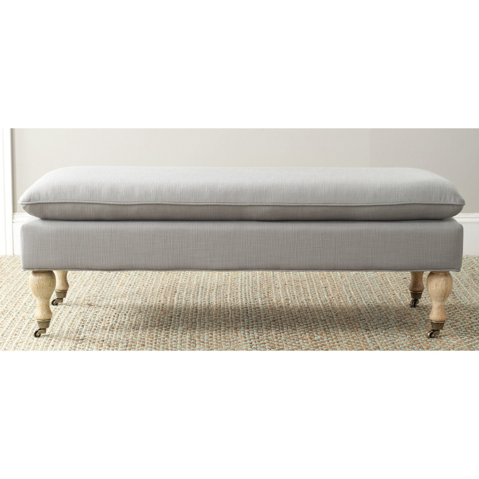 Safavieh Hampton Upholstered Pillowtop Bench