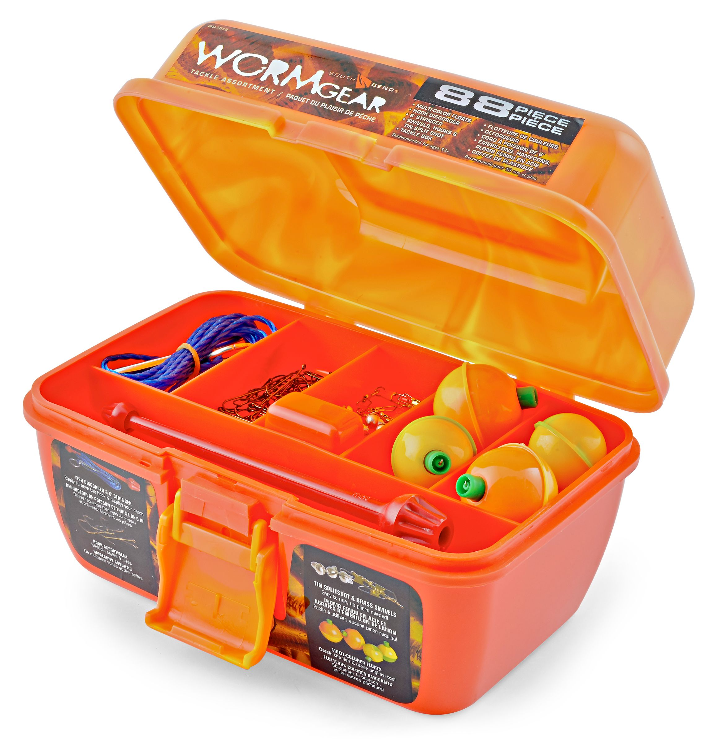 South Bend Worm Gear Tackle Box, 88pc by Generic