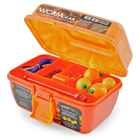South Bend® WormGear Tackle Box including 88 Pieces, Orange