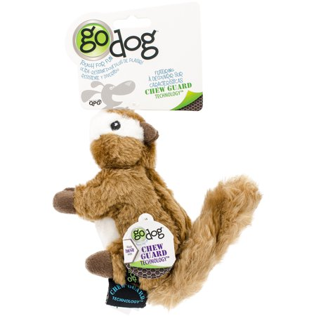 goDog® Wildlife Chipmunk with Chew Guard Technology™ Plush Squeaker Dog Toy, Small