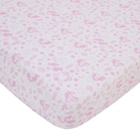 Disney The Little Mermaid Pink and White Ariel Cute by Nature Fitted Crib Sheet
