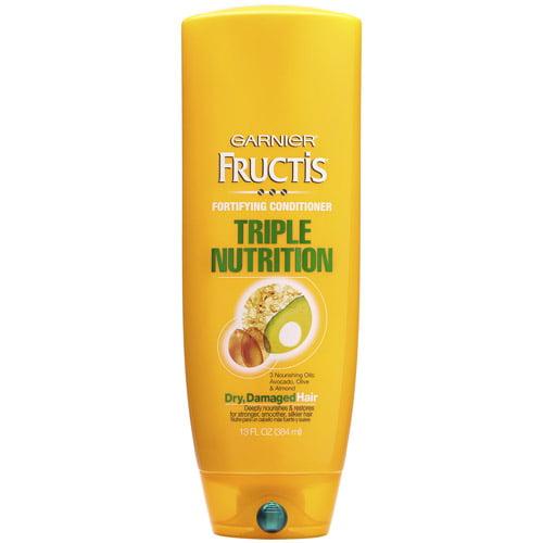 Garnier Fructis Triple Nutrition Conditioner for Dry, Damaged Hair, 13 fl oz