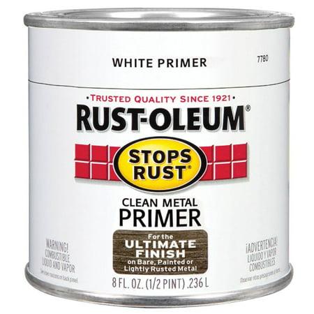 Stop Rust Metal (Rustoleum  Stops Rust 7780-730 1/2 Pint White Primer Stops Rust Clean Metal Primer )