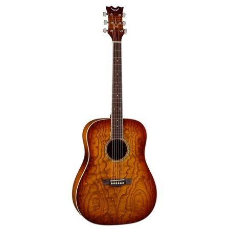 Dean AX DQA TSB Axs Dread Quilt Ash Acoustic Guitar With Tobacco Sunburst Finish (Dean Ax Dqa Acoustic Guitar)
