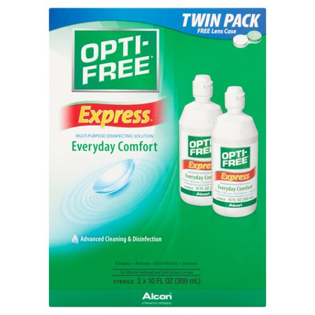 Alcon Opti Free Express Everyday Comfort Multi Purpose Disinfecting Solution  10 Fl Oz  2 Count