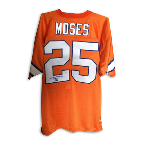 "NFL - Haven Moses Denver Broncos Autographed Orange Throwback Jersey Inscribed ""Broncos"" ""SB XII"" and ""ROF 88"""