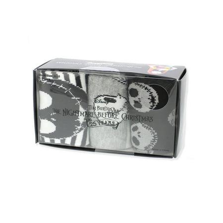 The Nightmare Before Christmas Women's 3 Pack Socks Gift Boxed - Nightmare Before Christmas Clothing