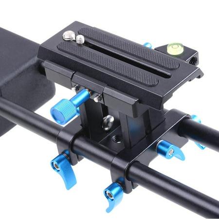 Studio DSLR Rig Video Camera Camcorder Shoulder Mount Stabilizer w/Dual Handgrip - image 5 de 9