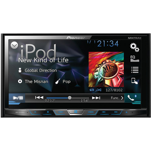 "Pioneer AVH-X4700BS 7"" Double-DIN DVD Receiver with Motorized Display, Bluetooth, Siri Eyes Free, SiriusXM-Ready, Android Music Support and Pandora Internet Radio"