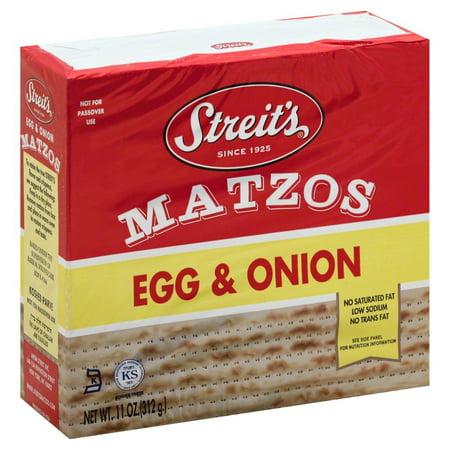 Streit's Kosher Matzo, Egg & Onion, 11 Oz
