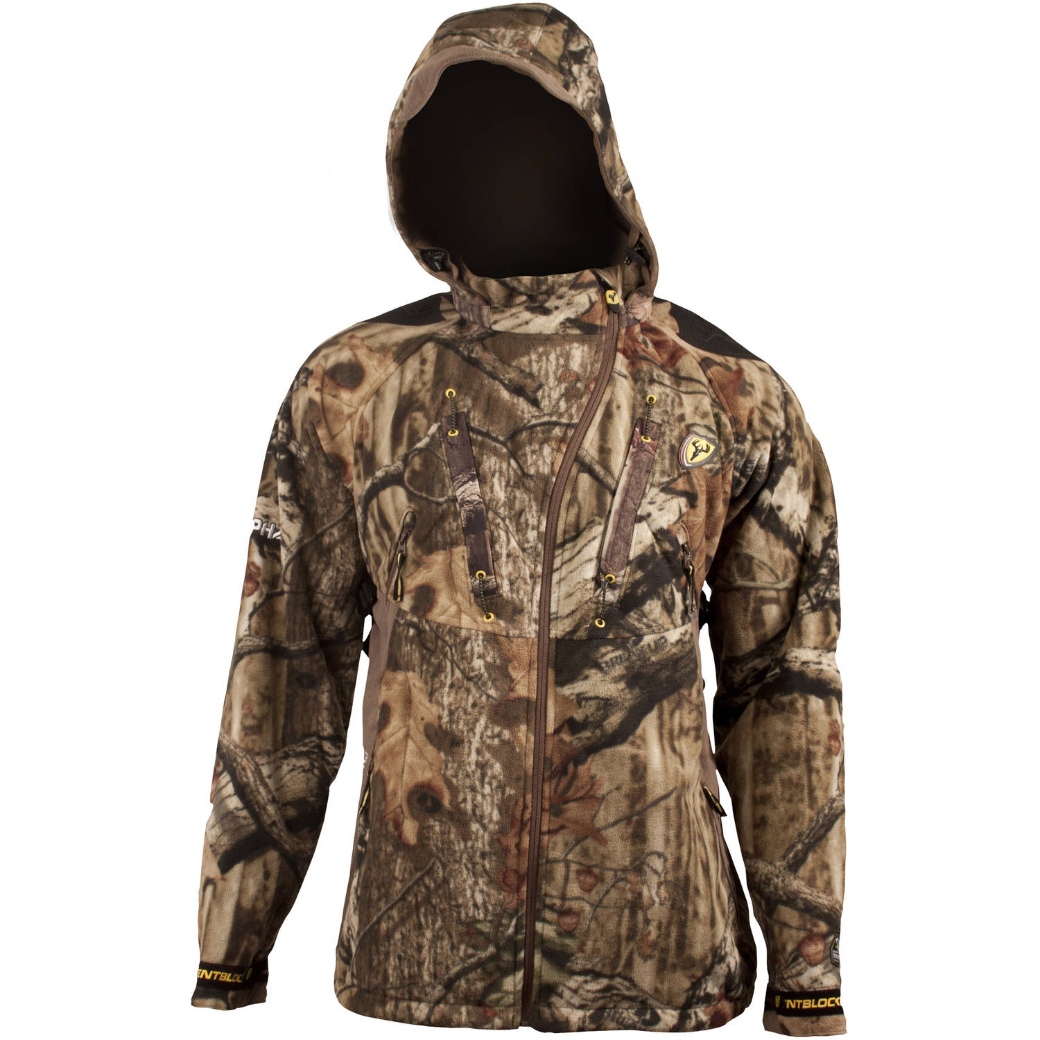 Men's Alpha Jacket with Trinity Scent Control ScentBlocker, Mossy Oak Infinity, Available in Multiple Sizes by ScentBlocker